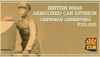 1/35 British RNAS Armoured Car Division crewman obserwing