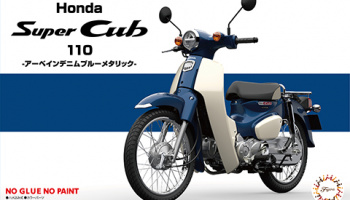 Honda Super Cub 110 (Arbane Denim Blue Metallic) - Fujimi
