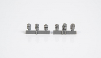 1/35 Heads of German WW2 Infantry Troops with Wint