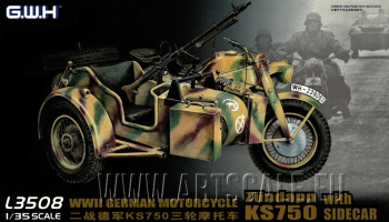WWII German Zundapp KS 750 with Sidecar/w trailers 1/35 – G.W.H.