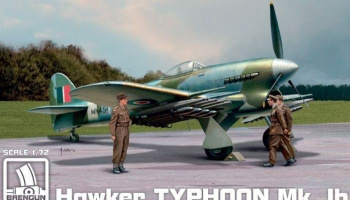 1/72 Typhoon Mk Ib mid prod - three blade prop Plastic kit with PE parts