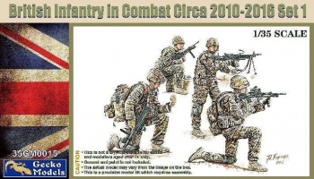 BRITISH INFANTRY IN COMBAT CIRCA 2010-2016 SET 1 1/35  – Gecko Models
