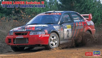 ADVAN Lancer Evolution VI '99 Rally of Canberra Winner 1/24 - Hasegawa
