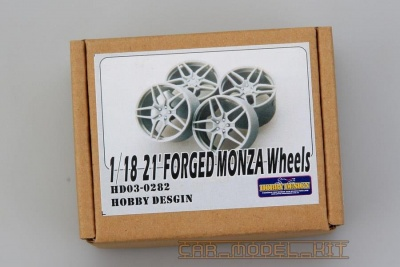 21' FORGED MONZA WHEELS For FERRARI 1/18 - Hobby Design