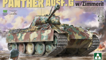 Panther Ausf.G Early Production with Zimmerit 1/35 - Takom