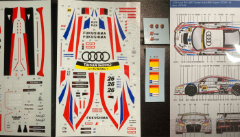 Audi R8 LMS Taisan Sard *26 Super GT300 ´16 for NuNu 1:24 - Decalpool