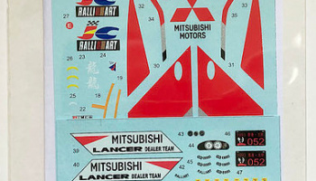 Mitsubishi Lancer Evolution I #4 Safari Rally '94 / 555 HK-Beijing '93 1/24   - Decalpool
