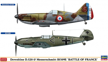 "Dewoitine D.520 & Messerschmitt Bf109E ""BATTLE OF FRANCE"" (2 kits in the box) 1/72 - Hasegawa"