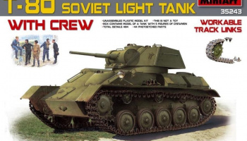 1/35 T-80 Soviet Light Tank w/Crew.Special Edition