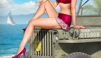 Pin-up series, Kit No.6 Samantha in 1:24 - MB Master Box