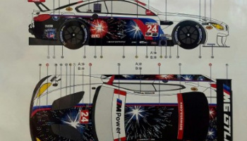 "BMW M6 GTLM ""Fireworks"" 2017 IMSA WeatherTech 1/24 - LB Production"
