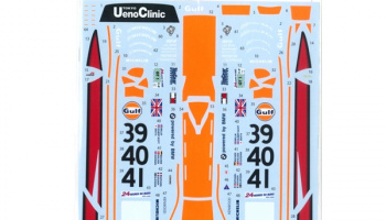 "McLaren F1-GTR ""Gulf"" #39/40/41 LM 1997(Long Tail) for FUJIMI 125794 1/24  - Tabu Design"