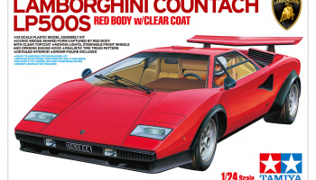 LAMBORGHINI COUNTACH LP500S (RED BODY w/CLEAR COAT) 1/24 - Tamiya