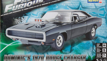 Fast & Furious Dominic's 1970 Dodge Charger (1:25) Plastic Model Kit 4319 - Revell Monogram