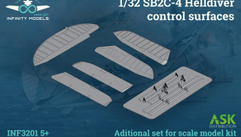 SB2C-4 Helldiver control surfaces 1/32 - Infinity Models - Preorder