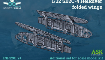 SB2C-4 Helldiver folded wings 1/32 – Infinity Models- Preorder