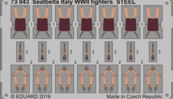 1/72 Seatbelts Italy WWII fighters STEEL