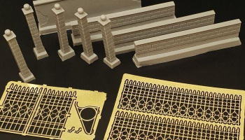 1/72 Castle fence resin and PE dio accessories