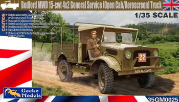 Bedford MWD 15cwt 4x2 General Service Open Cab 1:35 - Gecko Models