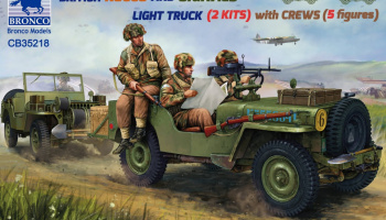 British Recce And Signals Light Truck (2 Kits)with Crew (5 figures) 1:35 - Bronco