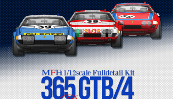 Ferrari 365 GTB/4 Racing Full Detail Kit - Model Factory Hiro