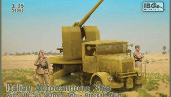1/35 Italian Autocannone 3Ro with 90/53 90mm Anti-Aircraft Gun