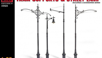 1/35 Tram Supports and Street Lamps