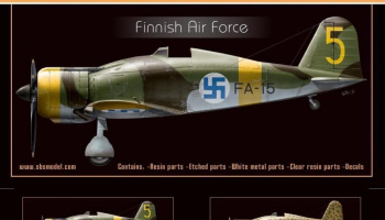 1/72 Fiat G.50 Freccia 'Finnish Air Force' - Resin+PE+decal - Full resin kit