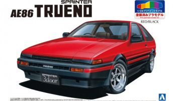 TOYOTA AE86 TRUENO '83 PRE-PAINTED MODEL (RED/BLACK) 1/24 - Aoshima