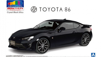 TOYOTA ZN6 TOYOTA 86 '16 (Crystal Black Silica) PRE-PAINTED MODEL 1/24 - Aoshima