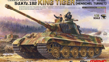GERMAN HEAVY TANK Sd.Kfz.182 KING TIGER (HENSCHEL TURRET) 1/35  – Meng