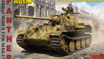 German Medium Tank Sd.Kfz.171 Panther Ausf. F w/ workable track, Kw.K L/70 & Kw.K L/100 1/35 – Rye Field Model
