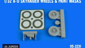 1/32 A-1J Skyraider wheels & paint masks for TRUMPETER kit