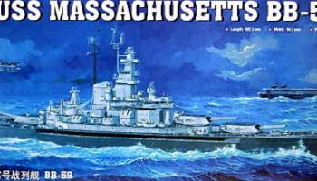 USS Massachusetts BB-59 1:350 - Trumpeter