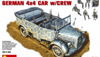 Kfz.70 (MB 1500A) German 4x4 Car w/Crew 1/35 - MiniArt