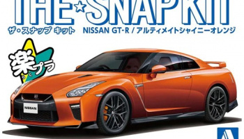 The Snap Kit Nissan GT-R Ultimate Shiny Orange 1:32 - Aoshima