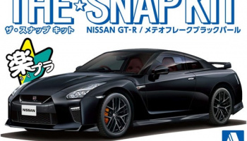 Nissan GT-R Meteor Flake Black Pearl The Snap Kit 1:32 - Aoshima