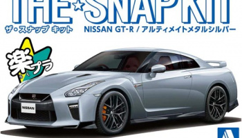 Nissan GT-R Ultimate Metal Silver The Snap Kit 1:32 - Aoshima