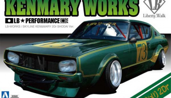 Kenmary Works LB Performance Skyline Ken&Mary 2Dr 1:24 - Aoshima