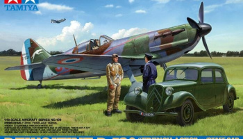 Dewoitine D.520 French Aces - w/Staff Car (1:48) - Tamiya