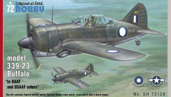 1/72 Buffalo model 339-23 In RAAF and USAAF color