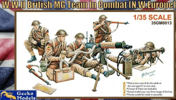 1/35 WWII British MG Team in Combat
