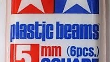 Plastic Beams Square 5mm - Tamiya