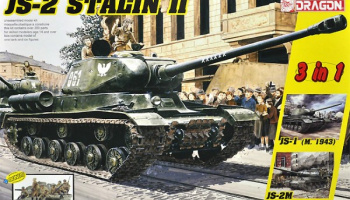JS-2 Stalin II + Soviet Infantry Tank Riders (3 in 1) 1:35 - Dragon