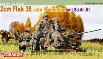 2 cm FlaK 38 Late Production mit Sd.Ah.51 1:35 - Dragon