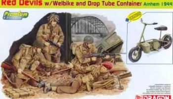 Red Devils w/Welbike and Drop Tube Container (ARNHEM 1944) 1:35 - Dragon