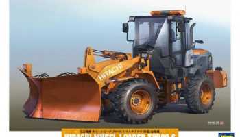 Hitachi Wheel Loader ZW100-6 Multiplow (Snowplow) Working Machine 1/35 - Hasegawa