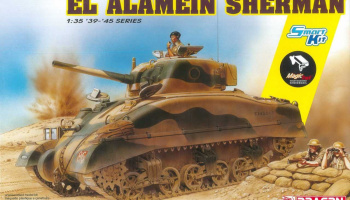 El Alamein Sherman (w/Magic Tracks) (SMART KIT) (1:35) Model Kit 6617 - Dragon