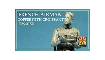 1/32 French airman coffee with croissant