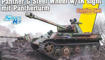 Panther Ausf.G Steel Wheel w/IR sight Mit Pantherturm 1/35 - Dragon